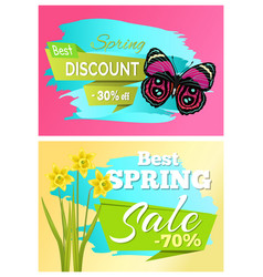 spring best discount 30 off sale set of posters vector image
