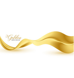 Stylish golden 3d wave abstract premium background vector