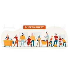 supermarket horizontal composition vector image