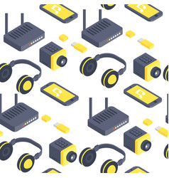 technology isometric gadgets computer vector image