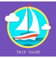 Yacht club team art vector
