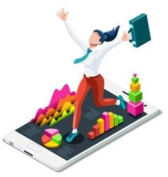 Ambitious business change 98 job ambitions concept vector