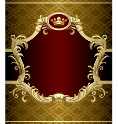 gold banner vector image