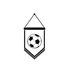 Pennant with soccer ball icon vector image