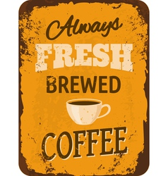 Vintage Coffee Tin Sign vector image vector image