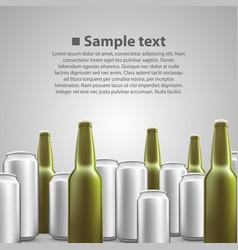 beer flyer background vector image