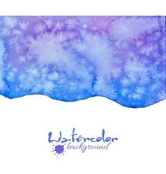 Blue decorative watercolor background vector image vector image