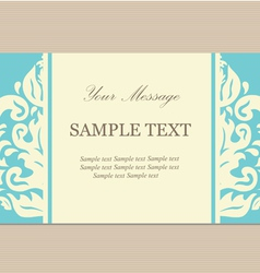 card blue vector image vector image