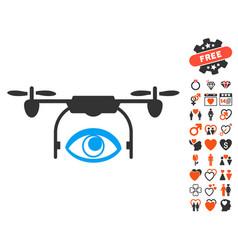 eye spy drone icon with valentine bonus vector image vector image