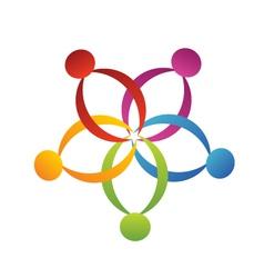 Teamwork support logo vector image