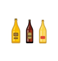 Beer bottle set vector image vector image