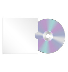 cd dvd isolated icon compact disc vector image vector image