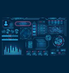 futuristic virtual graphic user interface hud vector image