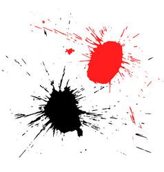 grunge shapes isolated on white background vector image
