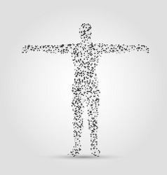 human body made of dots and lines vector image
