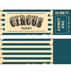 retro circus ticket vector image
