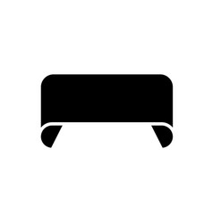 ribbon 2 rounded icon black vector image