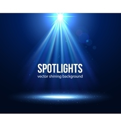 scene illuminated spotlight Dark spotlight vector image
