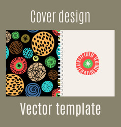 cover design with polka dots pattern vector image vector image