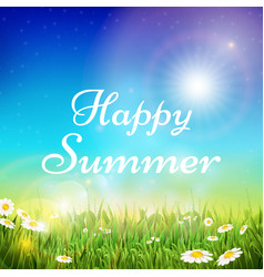 spring and summer background with green vector image