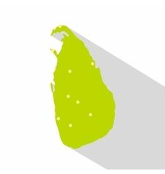 Sri Lanka green map icon flat style vector image vector image