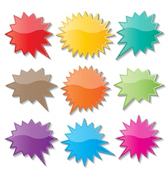 starburst speech bubbles vector image