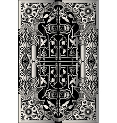 vintage baroque background frame card vector image vector image