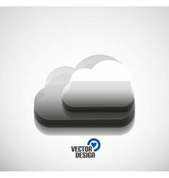 3d cloud computing concept icon vector image