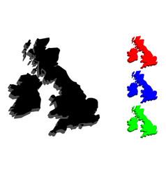 3d map of british isles vector image