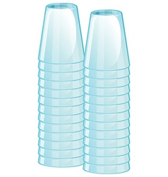 a pile glasses vector image