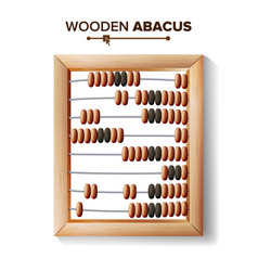 Abacus close-up of classic vector