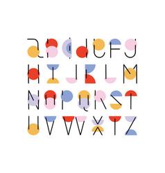 abc alphabet minimal hand drawn design vector image