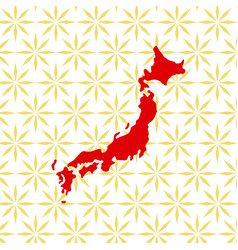 abstract japanese background with japan map vector image