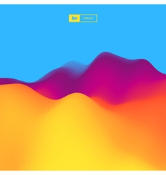 Abstract landscape background 3d vector