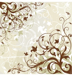 antique floral background vector image