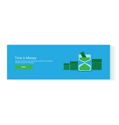 banner time is money vector image