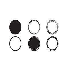basic shapes oval monogram frame basic shapes vector image
