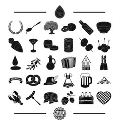 Bavaria rest fest and other web icon in black vector