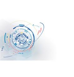 big data connection complex network design vector image