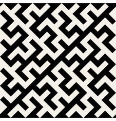 Black and White Maze Ornament Seamless vector image