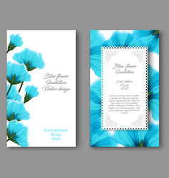 Botanical vertical banners with blue flower vector