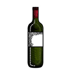 bottle wine isolated icon vector image