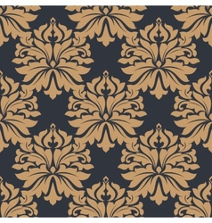 Brown floral seamless pattern vector