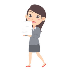 business women with paper character vector image
