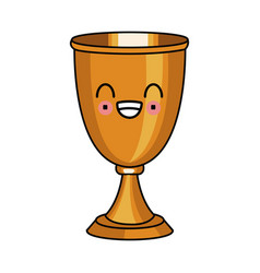 Chalice cup symbol kawaii cute cartoon vector