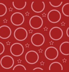 Circle and star shape seamless pattern vector