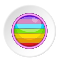 Circle in colours of lgbt icon cartoon style vector