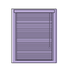Color window with blind curtain close design vector