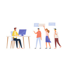 concept call center service questions vector image