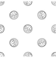 creme biscuit icon outline style vector image